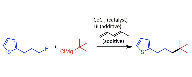 Figure 2. Co-catalyzed Cross-coupling of Alkyl Fluorides