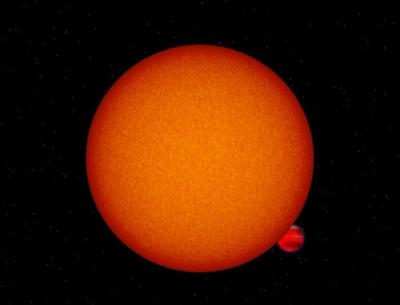 Artist's Impression of the Star OGLE-TR-56 and its Planet