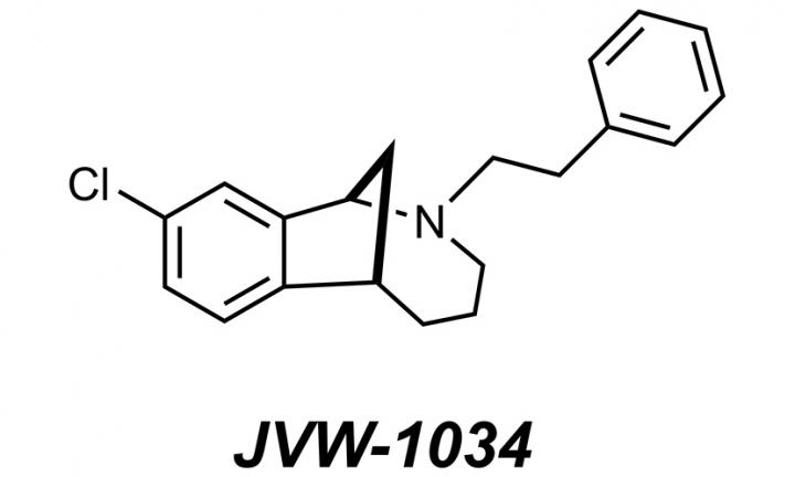 Chemical Diagram of Anti-Alcoholism Drug JVW-1034