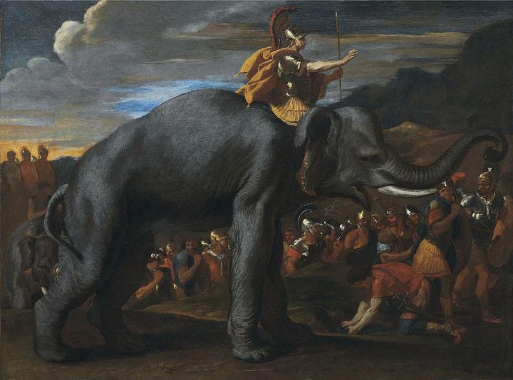 Hannibal Crosses the Alps on an Elephant