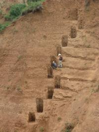 Researchers Collect Soil Samples Near Xi'an, China