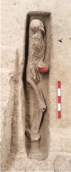 Human burial 1 from Qiaotou platform mound.
