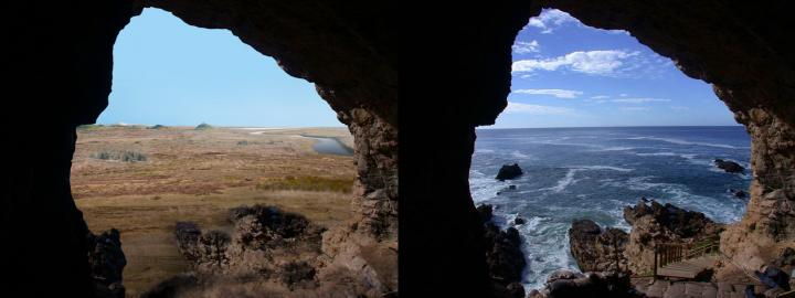 View during Glacial Period and Today