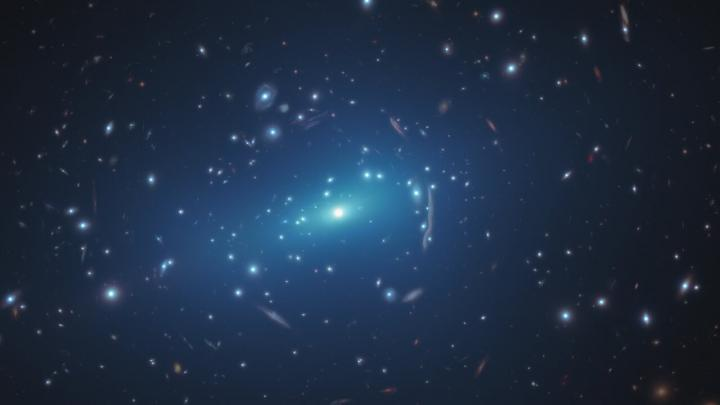 Hubble Sheds Light on Small-Scale Concentrations of Dark Matter (Artist's Impression)