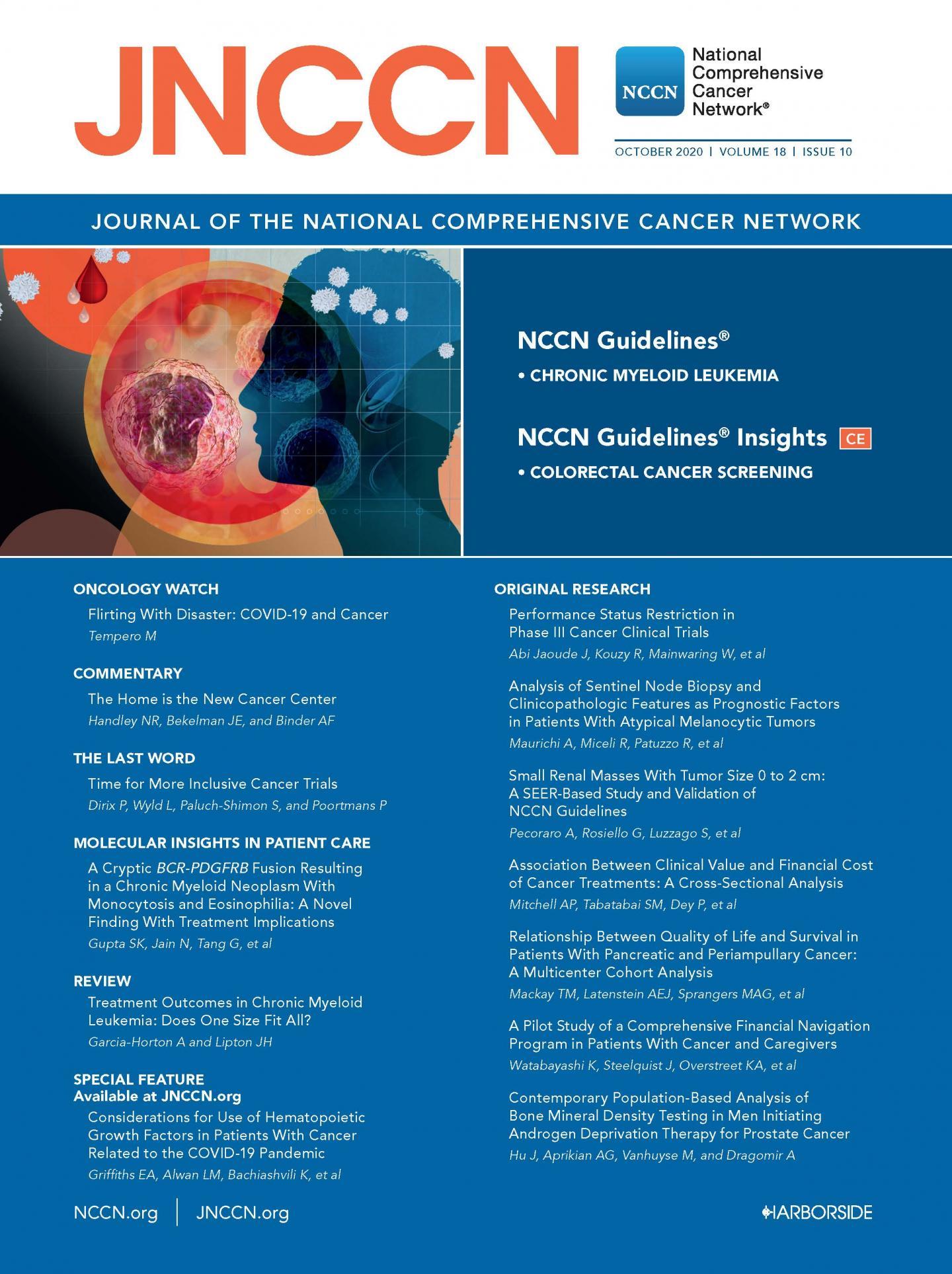 JNCCN October 2020 Cover