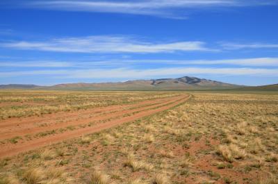Desert Steppes in Yol Valley in Mongolia