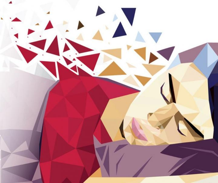 Illustration of a Woman Sleeping