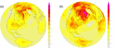 Temperature Response of Earth (in Degrees C)