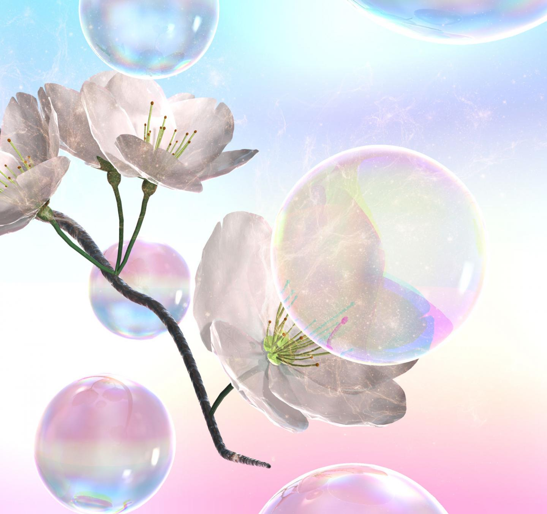 Art of Soap Bubble Pollination