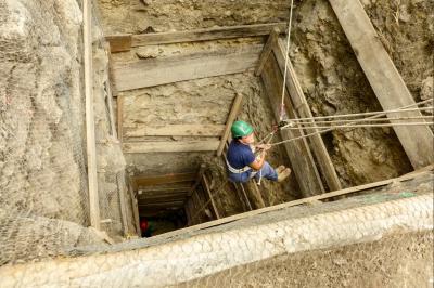 Ceibal Pyramid Excavation