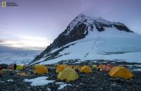 Tents and climbers