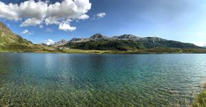Lago di Cadagno in the southern Swiss Alps