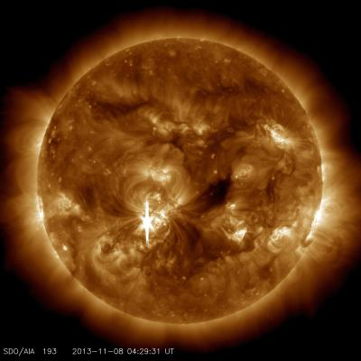 X1.1 Class Flare That Peaked at 11:26 p.m. EST on Nov. 7