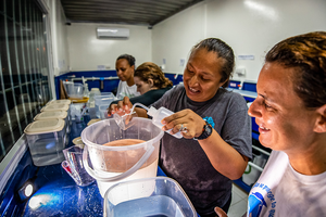 Coral restoration training