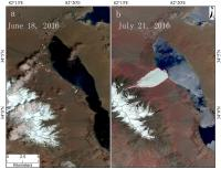 Before and After Aru Glacier Collapse in western Tibet