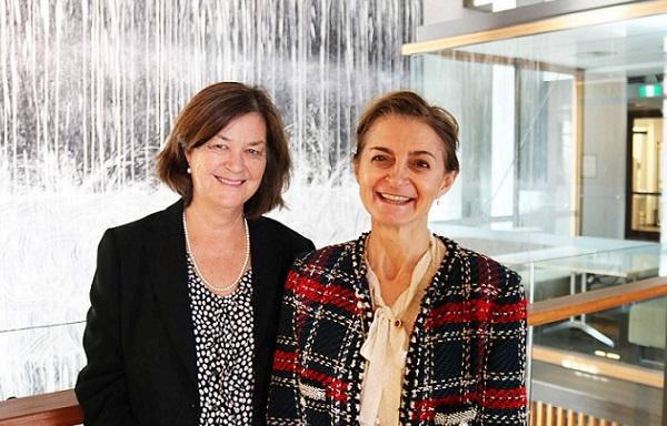 Professor Susan Clark (left) and Professor Katherine Samaras (right)