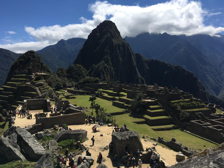 Tourists Enjoying Peru's Machu Pichu