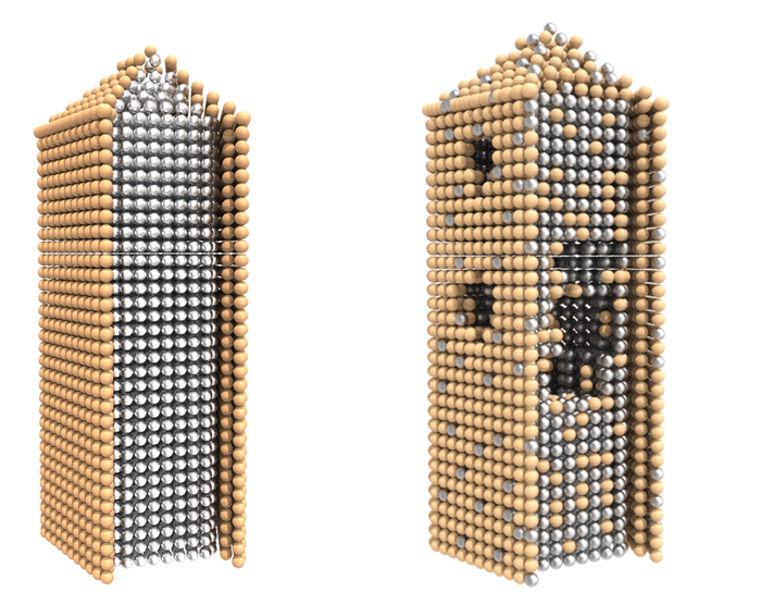 Silver Nanowires with Ultrathin Gold Shells - With and Without Pore Formation