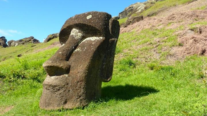 Monolithic Human Figures Called Moai