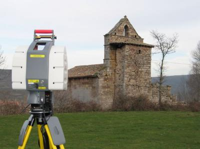 Taking Laser Scanner Data With the Church of Valberzoso (Palencia, Spain)