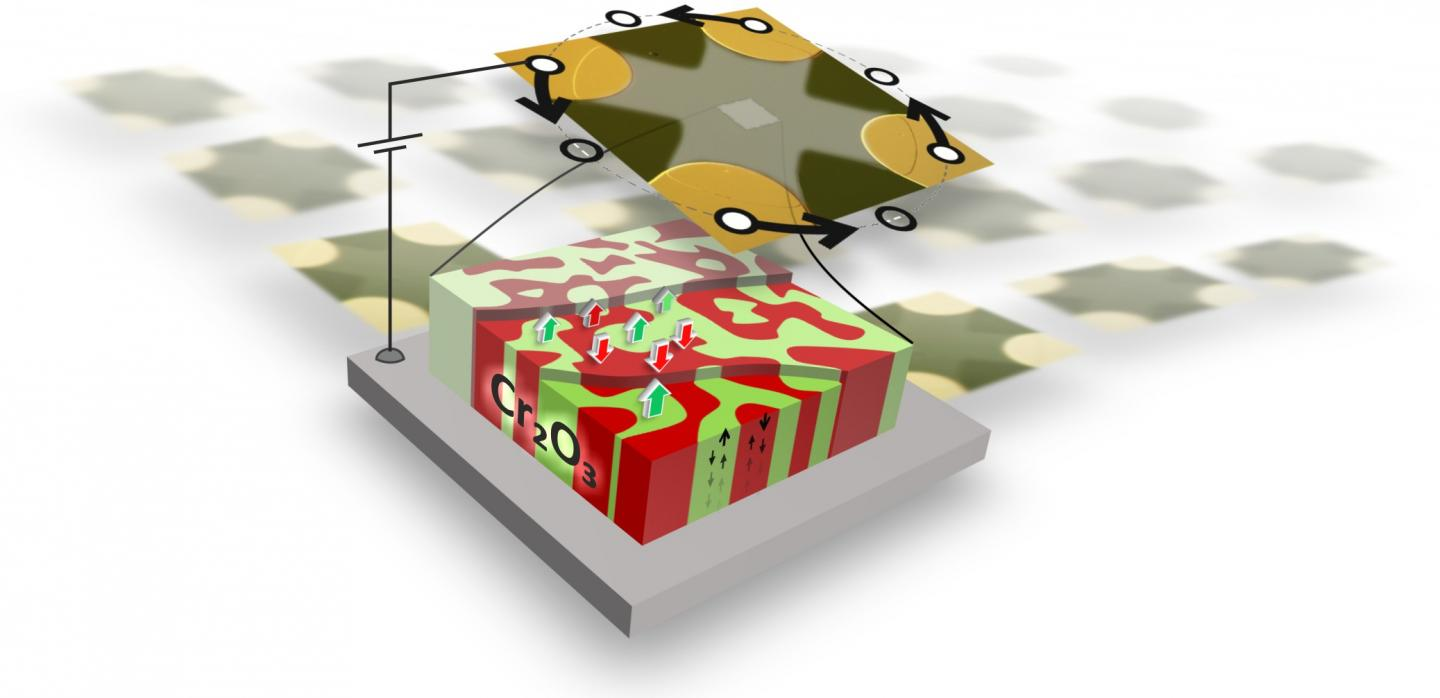 The Prototype of An Antiferromagnetic Magnetoelectric Memory Chip