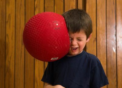 Dodgeball Hitting Face
