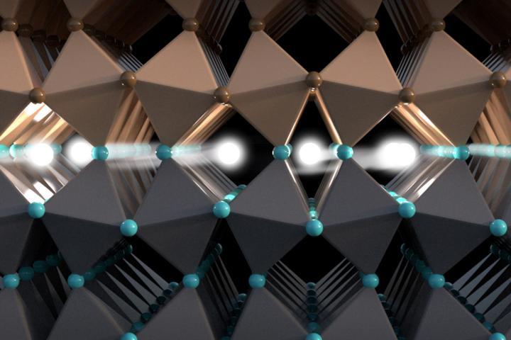 Spinning Electrons Closeup