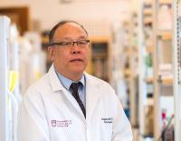 Eugene Chang, M.D., in his Lab at UChicago Medicine