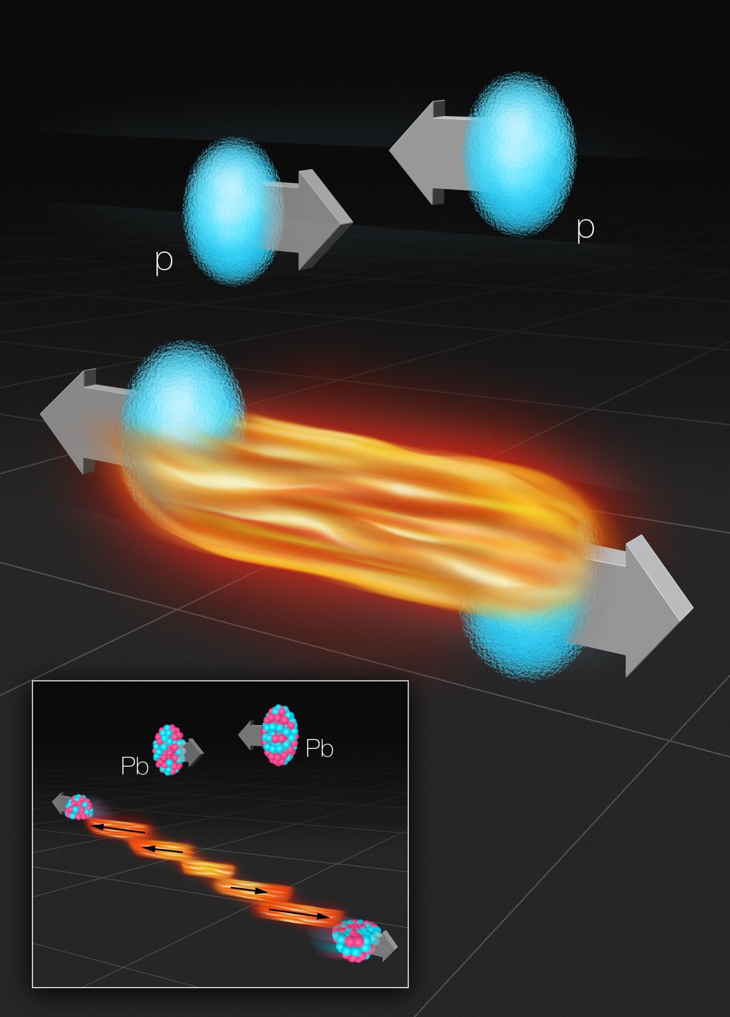 Fire Streaks in the Collisions of Protons and Atomic Nuclei
