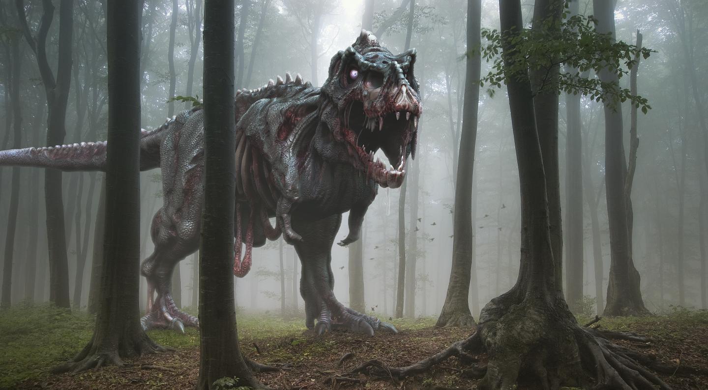 Artist's Impression of an Undead T. rex