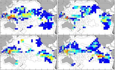 GPS Traffic Maps Show Relative Interactions between Turtles and Longline Fisheries in Space and Time