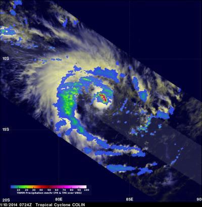 TRMM Image of Colin