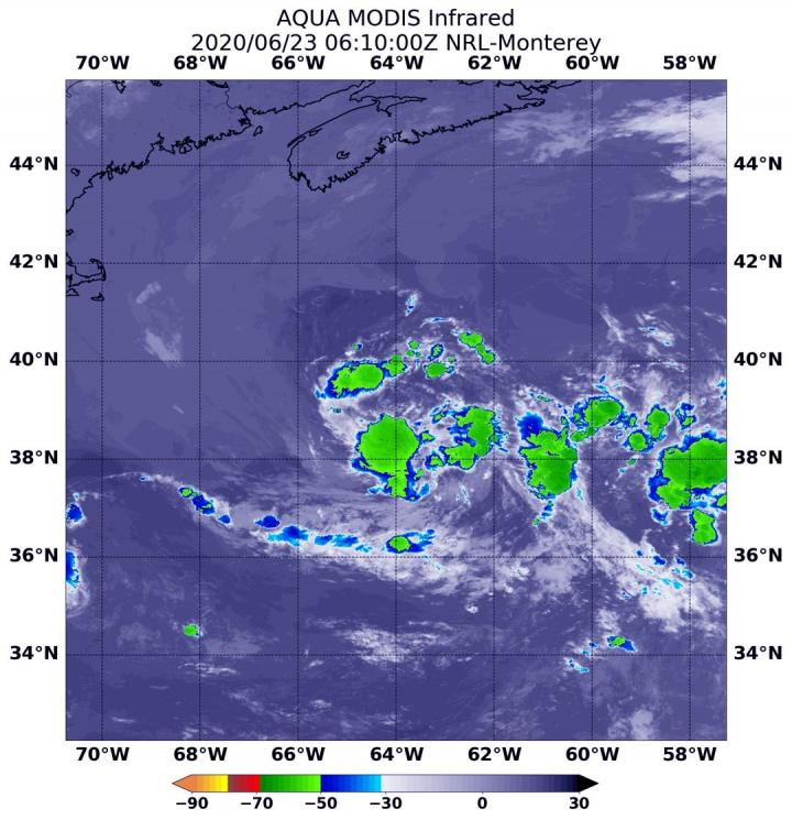 Aqua Image of Subtropical Depression 4