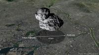 Comet 67P/Churyumov-Gerasimenko over Tokyo