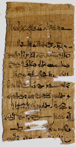 Papyrus Fragment from Tebtunis