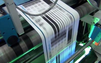 Paper being Printed