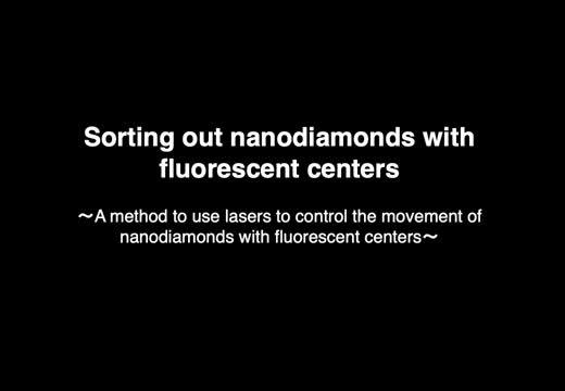 Resonant and Non-Resonant Nanodiamonds Moving in Opposite Directions