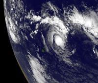 GOES-15 Satellite Image of Tropical Storm Evan