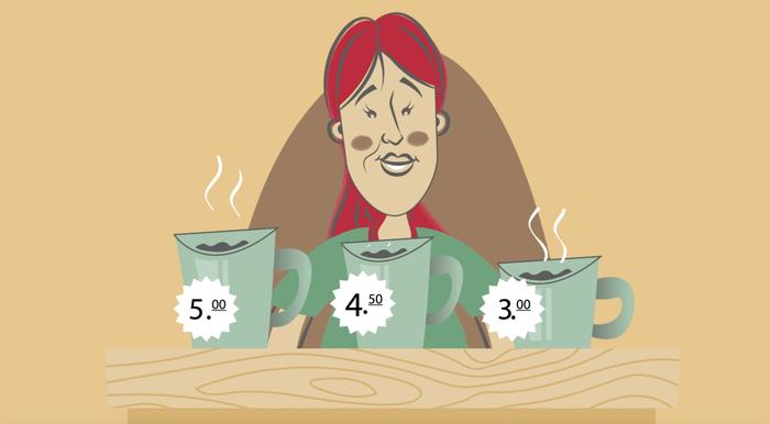 Coffee decoy effect