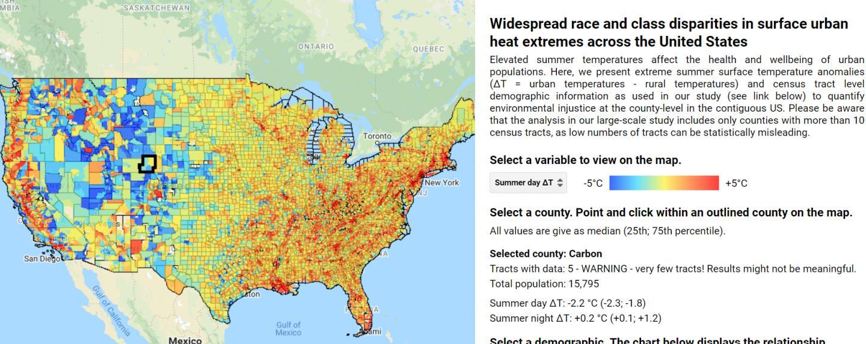 Race and class disparities interactive map