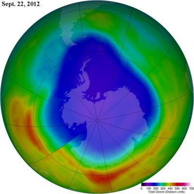 Ozone Hole Maximum on Sept. 22, 2012