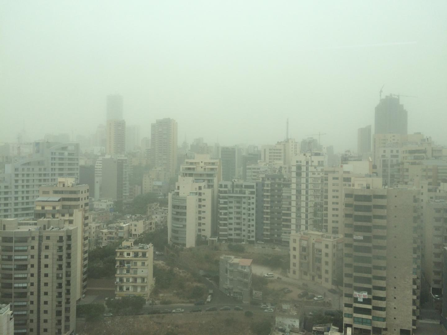Dust Storm in Beirut