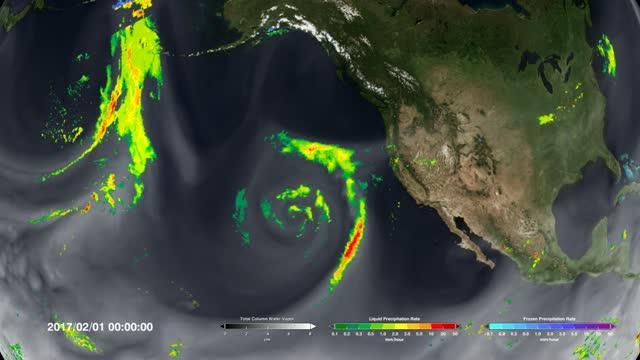 IMERG Video of rainfall over California