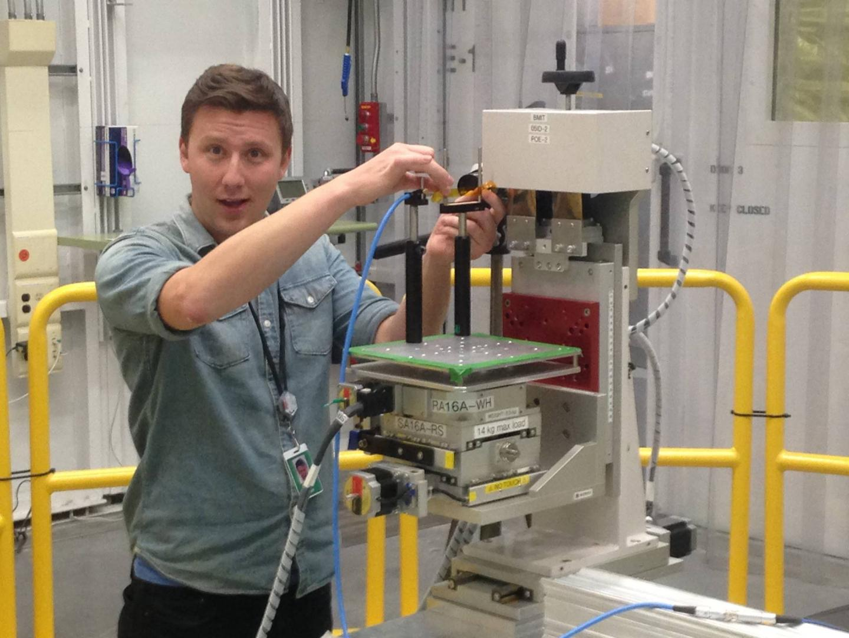 USask PhD student Farley Chicilo at the Canadian Light Source synchrotron at University of Saskatchewan