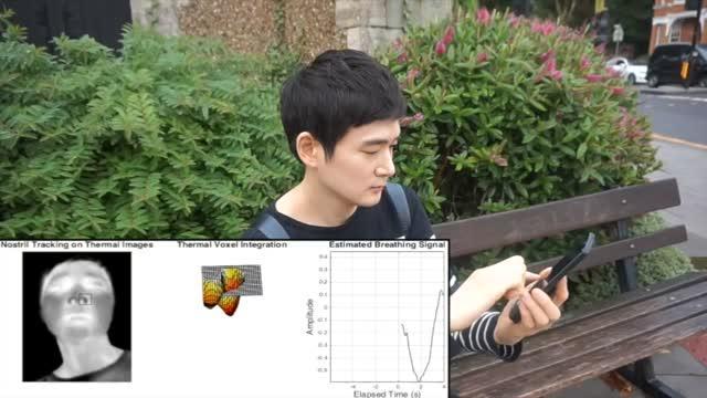 Mobile Thermal Imaging Tracks Breathing