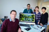 NTU Assoc Prof Julien Lescar, Dr Abbas El Sahili, PhD Student Ms Jia Huan and Dr Xinlei Qian