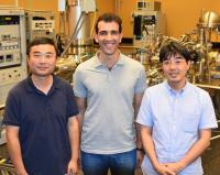 Yabing Qi, Zafer Hawash, and Dr. Luis K. Ono, Okinawa Institute of Science and Technology