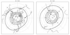 Reconstructed auroral zone over the last 3000 years