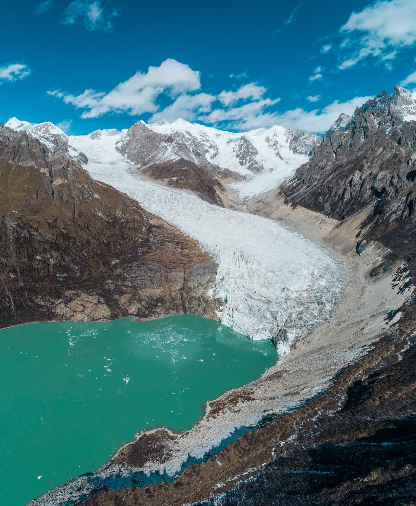 Glacial lake in the Himalayan region