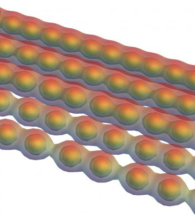 Carbyne Turns From a Metal To a Semiconductor When Stretched